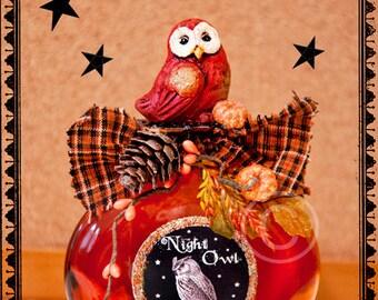 Potion Bottle, Potion, Halloween Potion, Halloween, Orange, Red, Owl, Autumn, Woodland, Night Owl, Apothecary