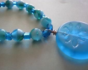 BJD SD 1/3 Doll Necklace Blue Dragonfly Doll Jewellery