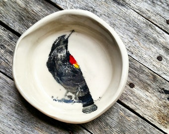 Black Bird Bowl Dish - Made to Order