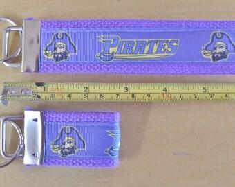 ECU Pirate Inspired Key Fob Purple 020413