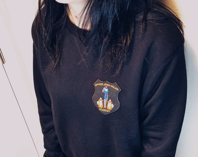 Officer Jenny Police Academy Patch Sweatshirt (Black) | Geek Apparel | Pokemon Sweatshirt