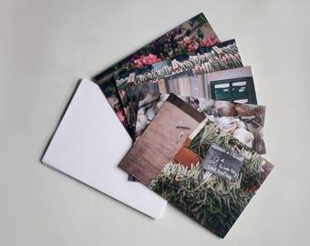 Le Marché - five art notecards