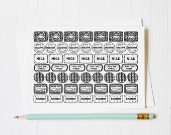 Biscuit Row Collection Greeting Card - Biscuits Drawing - Blank Card for Biscuit Lover - Biscuit Lovers Card -  Biscuit Birthday Card