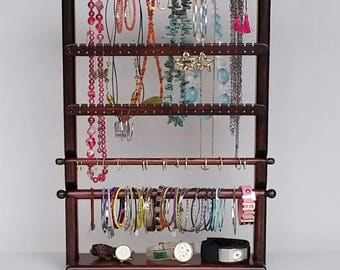 Ring holder necklace Earring Holder Jewelry Organizer Jewelry Storage, Jewelry Holder, Necklace Storage, Jewelry Hanger, Jewelry Stand