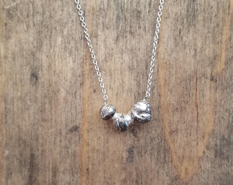 Sterling silver Granual necklace