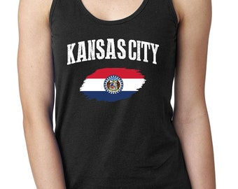 Kansas City Missouri Women Tops Next Level Racerback Tank Top