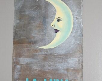 Acrylic Moon Painting