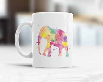 Elephant Mug, Elephant Coffee Mug, Animal Tea Cup, Elephant Kitchen Decor, Mug for personalise, Custom Mug, Kids Elephant Mug, Elephant Art
