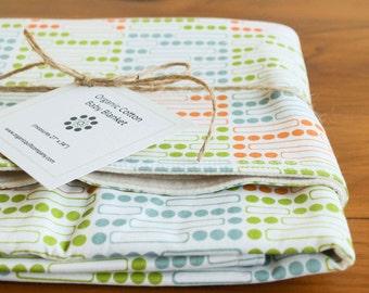 Organic Baby Blanket, Gridlock