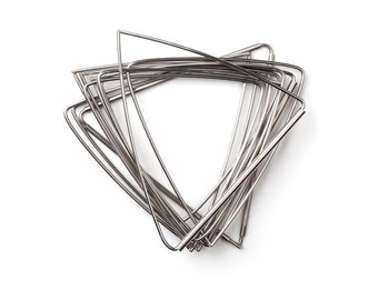 Stacking triangle bangles - stainless steel