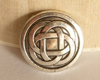 Silver Celtic Knot Buttons - Metal Shank Buttons - Metal Buttons - Silver Buttons - Round Buttons - Celtic Buttons - Wrap Bracelet Butttons