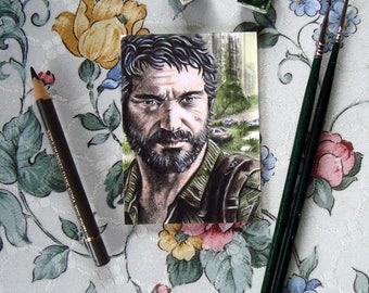 Endure - The Last Of Us Traditional Art - Joel - Original Watercolor Painting - ACEO