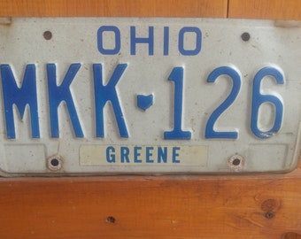 Ohio license plate