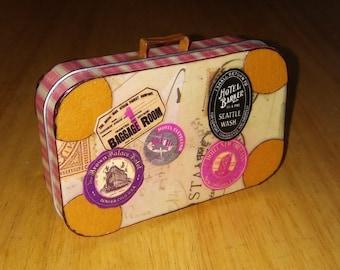Altered Altoid Tin Suitcase USA Destinations