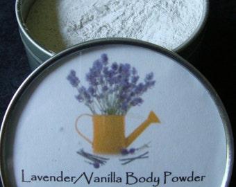 Lavender Vanilla Body Powder, Body Powder, Powder, Natural Powder, Talc Free Powder, Lavender, Vanilla, Bath Powder, Fragrant Body Powder