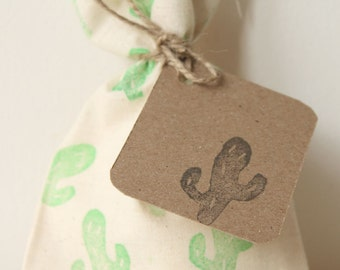 CACTUS favour tags, gift tags, thank you tags, Cactus favour bag tags, pow wow, tribal, wild one X 10