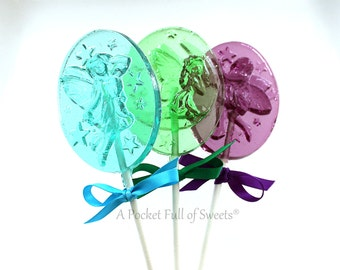Fairy Birthday Party Favors, Fairy Garden Party, Fairy Baby Shower, Enchanted Forest Party, FAIRY Party Favors, 7 Barley Pops, Lollipops