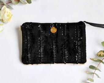 Hand woven pouch Natalis, festive accessory, unique and precious gift