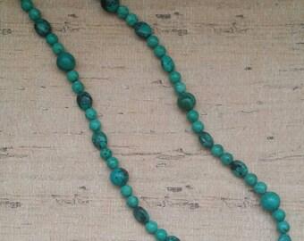 Southwest Necklace, Native American Necklace, Tribal Necklace, boho necklace, Beaded necklace, Turquoise Necklace