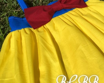 Snow White Dress Toddler Dress Halloween Costume Dress Up Princess Play Dress Red Blue Yellow Any Princess
