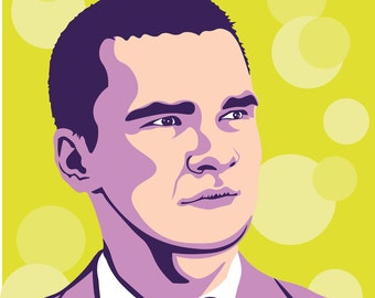 Custom vector colorful Pop Art Portrait from your Photo