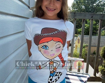 Toy story Jessy disney hand painted shirt 12-18 24 2 3 4 5 6 7 8 9 10 boutique pageant custom
