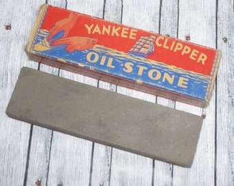 Vintage Sharpening Stone-YANKEE CLIPPER Oil Stone Two Sided Fine/Coarse Stone