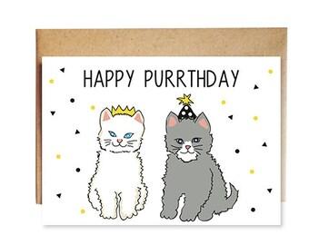 Happy Purrthday Kitten Card