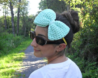 mint headband| bow tie headband| big bow headband| statement headband