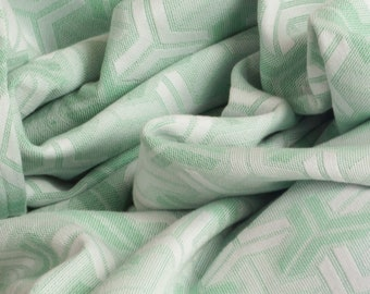 Trio Mint Green Handmade Cotton Throw 142 x 180 cm