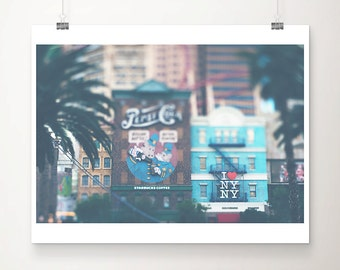 Las Vegas photograph travel photograph Nevada photograph palm tree photograph hotel photograph wanderlust art Las Vegas print