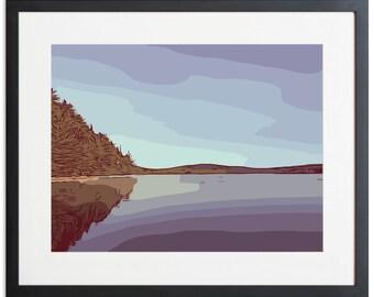 Blue Lake Contemporary Art Digital Download
