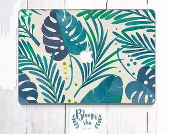 Jungle Leaf Macbook Decal / Green laptop sticker / Macbook Air sticker / Stickers Macbook Pro / Macbook Air Skin / macbook pro 13 skin/BS019