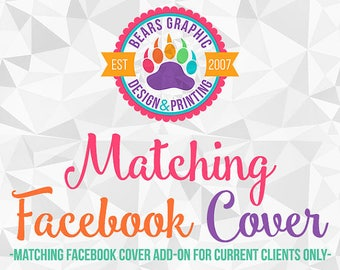 Matching Facebook Cover Add-On for Current Design Clients, Made to Match, Design Add-on