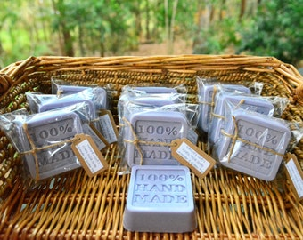 Handmade Natural Boutique Soap (x10 bars) ~ Lavender & Green Tea Goats Milk