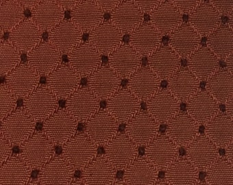 Rust Diamond and Dot - Upholstery Fabric by the Yard