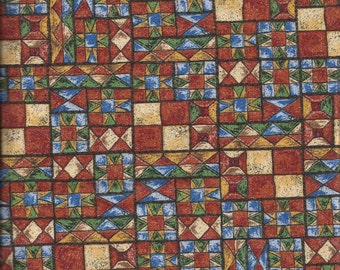 Southwestern Patchwork Cotton Fat Quarter Fabric