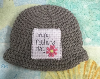 Father's day gift,  100% USA Grown Cotton, Crochet, baby hat, Newborn,