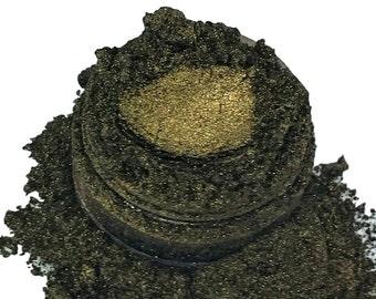 Resurrection Metallic Brown Gold  Mineral Eye Shadow 10g Sifter Jar Gray eyeshadow Vegan Natural mineral Mica Makeup