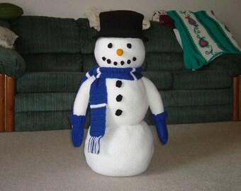 LARGE Crochet Snowman Pattern for Winter Decor