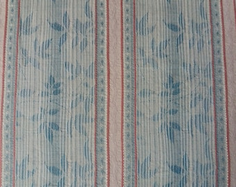 Vintage fabric or vintage, fine foliage, pastel colors