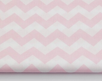 Fabric 100% cotton half a metre (50 x 160 cm), 100% cotton pink chevron zig zag
