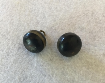 Antique Black Glass Buttons
