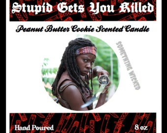 Michonne   TWD   The Walking Dead   Katana   Peanut Butter Cookie Scented   Inspired Candle