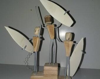 Wood surf podium