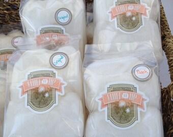 Organic Cotton Candy, Six Flavor Sampler: Strawberry, Lemonade, Peach, Pancake, Raspberry, and Chocolate