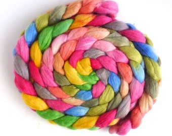 Merino/ Superwash Merino/ Silk Roving - Handpainted Spinning or Felting Fiber, Hopes and Dreams