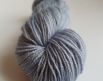 Skein of Superwash Merino - Nylon - Stellina / Fingering / Sock hand - dyed ephemeral blue gray color