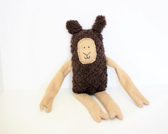 Llama Minky Brown Plush Doll