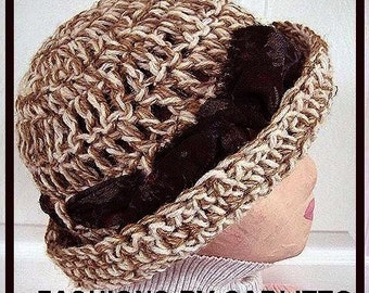 Crochet  Hat PATTERN, num 62..... Adult size, Make it yourself.. permission to sell your hats, instant download